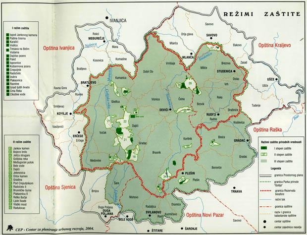ivanjica mapa Kumanica   Camping Association of Serbia   Kamping asocijacija Srbije ivanjica mapa